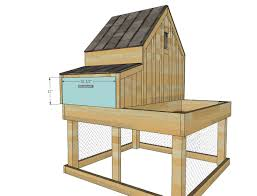 Chicken Coop Kit Ana White Small Chicken Coop With Planter Clean Out Tray And
