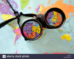 World Map Malta Showing Malta by A Pair Of Binoculars On Top Of A World Map Countries Highlighted
