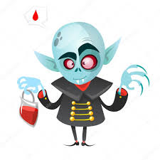 cartoon vampire halloween vector illustration vampire holding