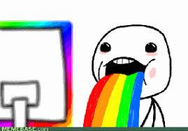 Throwing Up Rainbows Meme - puking rainbows meme gif clearview windows