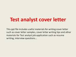 software quality assurance analyst cover letter