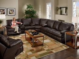 Black Leather Reclining Sectional Sofa Sofa Compelling Black Leather And Suede Sectional Engrossing
