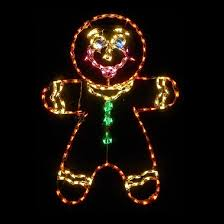 led outdoor christmas decorations lighted gingerbread