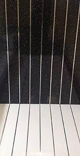 Bathroom Ceiling Cladding Pvc Panels Black Sparkle Chrome 8mm Shower Wet Wall Panels Bathroom Ceiling