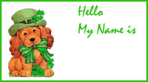 st patrick u0027s day name tags and nametag templates for kids