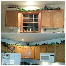 ideas for above kitchen cabinet space greenery for above kitchen cabinets decorating above kitchen