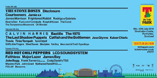 t in the park 2016 lineup roses calvin harris lcd
