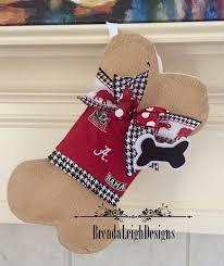 unique dog bone christmas stocking alabama dog