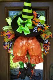 Deco Mesh Halloween Wreath Ideas by