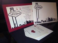 las vegas destination wedding card wedding invitation deposit by pixelstopaper