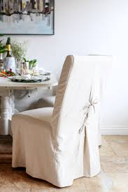 Linen Slipcovered Dining Chairs Slipcovered Dining Chairs
