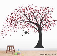 clearance large windy tree with birdhouse wall decal