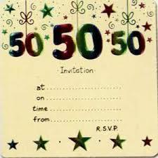 50th birthday invitation template blueklip com