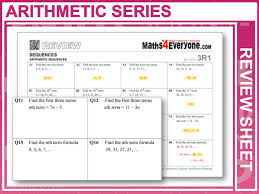 arithmetic sequences gcse revision by maths4everyone teaching