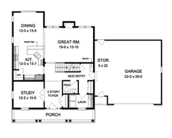 colonial floor plans colonial style house plan 4 beds 2 5 baths 2282 sq ft plan 1010