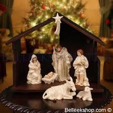 belleek nativity crib set belleek gifts ireland