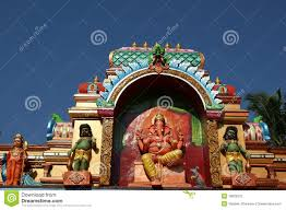 Statues Of Gods by Statues Of Gods And Goddesses In The Hindu Temple Stock Photo