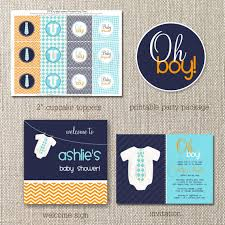 lil baby shower oh boy in a tie baby shower orange and aqua collection