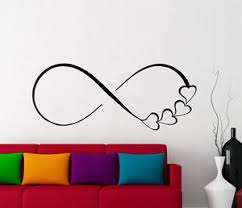 wall decals hearts and infinity symbol decal sign family