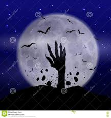 this is halloween background halloween background with zombie hand stock vector image 77028008