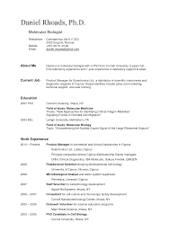 Biology Resume Examples by Help With My Biology Cv Jarmo Katila
