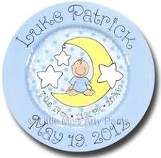 baby birth plates birth announcement plates baptism plates miss arty