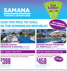 samana vacation packages all inclusive samana vacations deals