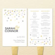 Wedding Ceremony Programs Diy Confetti Printable Wedding Program Fan Diy Ceremony Program Fan