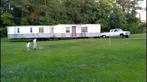Trailer Houses by 3 4 Ton Truck Moving A Mobile Home Youtube