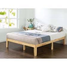 King Wooden Bed Frame Bed Frames Box Springs Bedroom Furniture The Home Depot