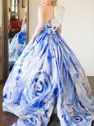 blue wedding light blue and white wedding dress biwmagazine