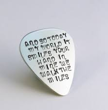 quote about music guitar love quotes guitar pick perfect gift for a grooms by namedrops