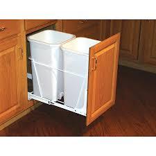 commercial kitchen wastebaskets under sink trash can roller 6