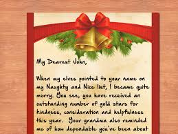template for santa letter 3 ways to write a letter from santa wikihow