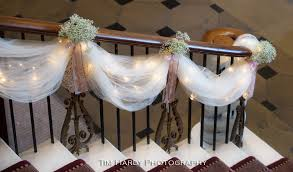 Decorating With Christmas Lights And Tulle by Stair Decorations My Dream Wedding Pinterest Decoration