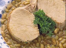 cuisiner des flageolets côtelette de longe de porc braisées aux flageolets verts recette