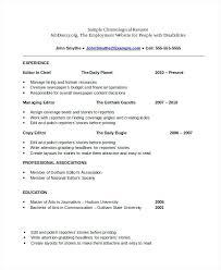 resume templates pdf free chronological resume template u2013 inssite