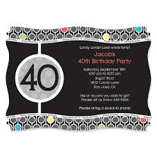 40th birthday personalized birthday party invitations