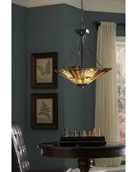 tiffany style dining room lights elstead lighting quoizel tiffany inglenook 3 light uplight
