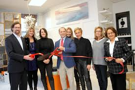 r home interior design store hosts celebratory ribbon cutting in
