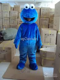 seasame street cookie monster mascot blue elmo costumes holloween
