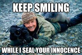 Keep Smiling Meme - keep smiling while i seal your innocence rapist seal quickmeme