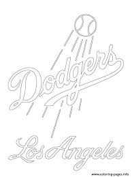 los angeles dodgers logo mlb baseball sport coloring pages printable