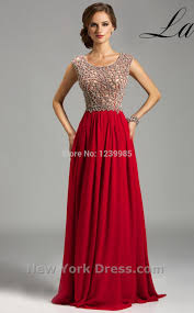 aliexpress com buy ep258 elegant scoop a line red long prom