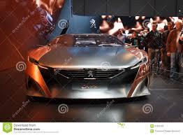 peugeot onyx price silver peugeot onyx concept geneva motor show 2015 editorial stock