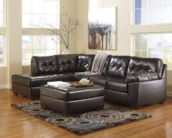 Corner Settees And Sofas Buy Alliston Durablend Chocolate Laf Corner Chaise And Raf Sofa