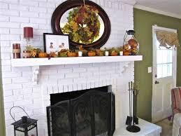 painted white brick fireplace binhminh decoration
