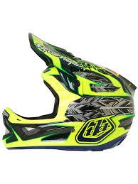 motocross helmet design troy lee designs nightfall green d3 carbon mips mtb full face