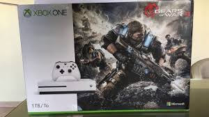 xbox one consoles and bundles xbox xbox one s 1tb console gears of war 4 bundle unboxing 4k youtube