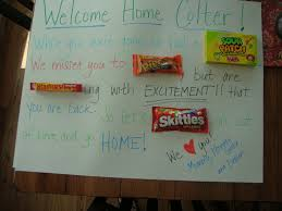 welcome home ideas best 25 welcome home surprise ideas on